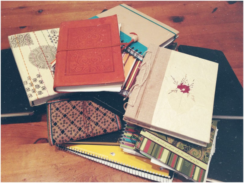 I wasn't kidding. If you look closely, I bet you'll figure out my favorite style of journal. (Hint: Moleskine)